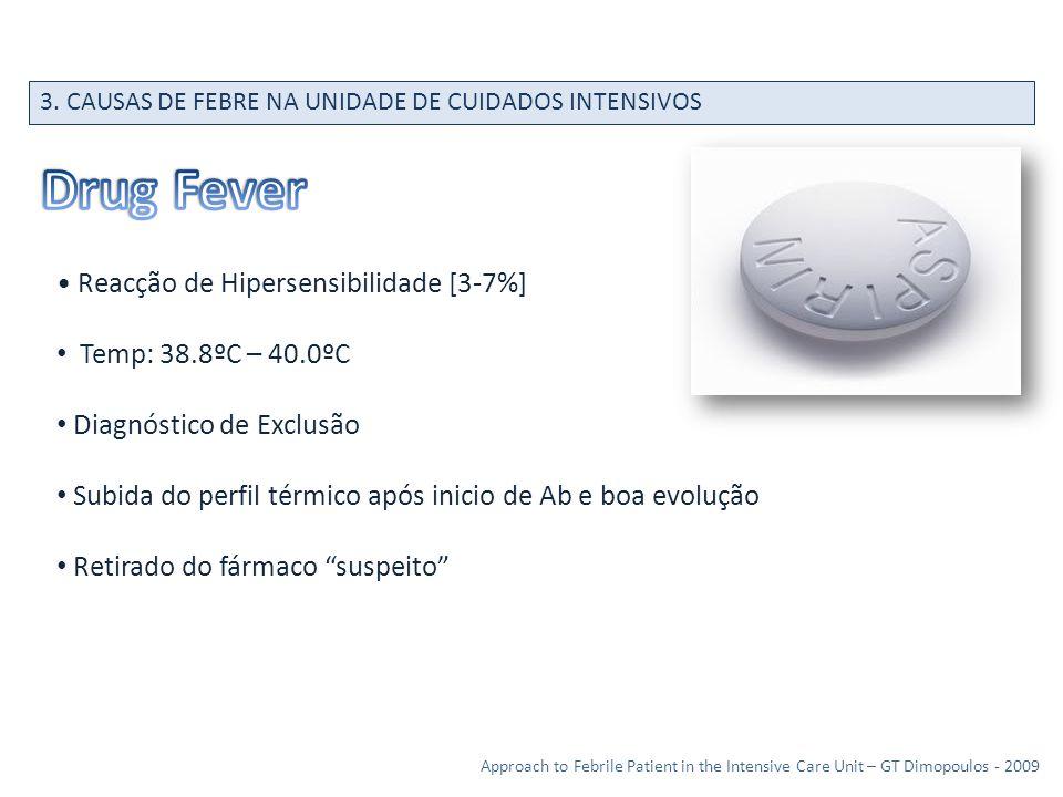 Drug Fever • Reacção de Hipersensibilidade [3-7%]